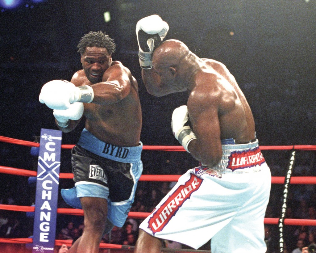 Chris Byrd versus Evander Holyfield for the IBF Heavyweight Championship Dec 14, 2002.