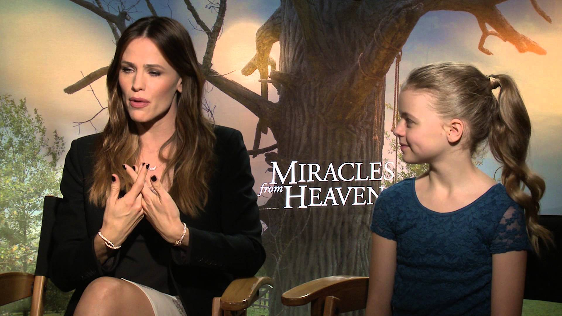 """""""Miracles From Heaven"""" Jennifer Garner & Kylie Rodgers"""