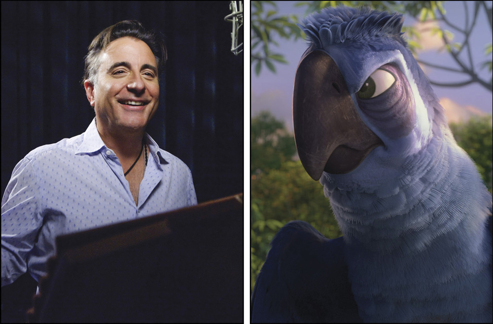 Andy Garcia as the voice of Eduardo for movie Rio 2. Photo courtesy of Blue Sky Studios for 20th Century Fox