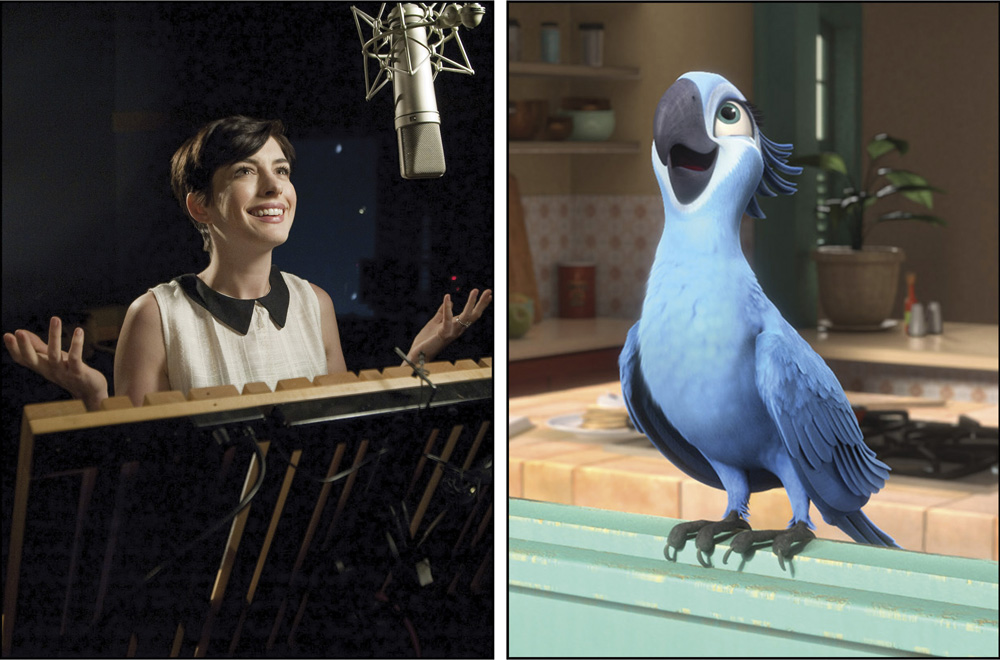 Anne Hathaway as the voice of Jewel for movie Rio 2. Photo courtesy of Blue Sky Studios for 20th Century Fox