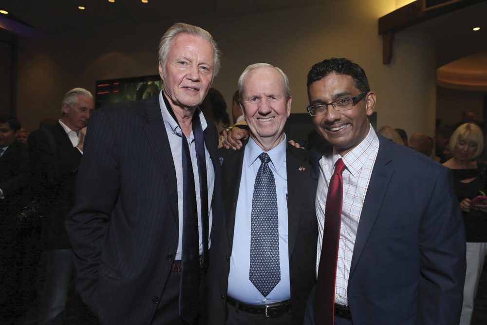 Actor Jon Voight, Producer Gerald Molen and Dinesh D'Souza