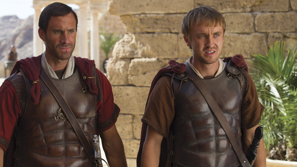 (l to r) Joseph Fiennes and Tom Felton in TriStar Pictures' RISEN.