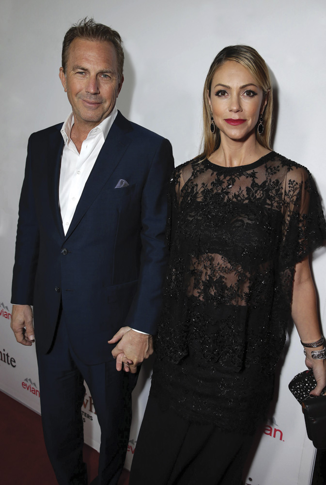 Kevin Costner and his wife Christine Baumgartner