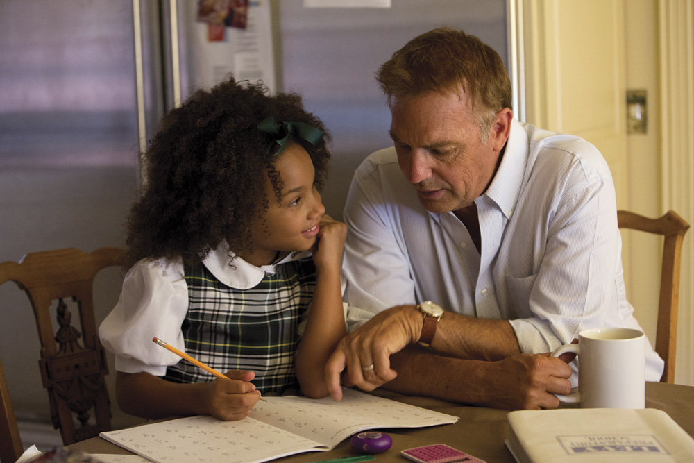 Jillian Estell and Kevin Costner in Relativity Media's Black or White.