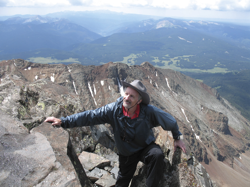 Philip Yancey in the Rocy Mountains... he and his wife have climbed all 54 of Colorado's 14,000-foot-plus peaks.