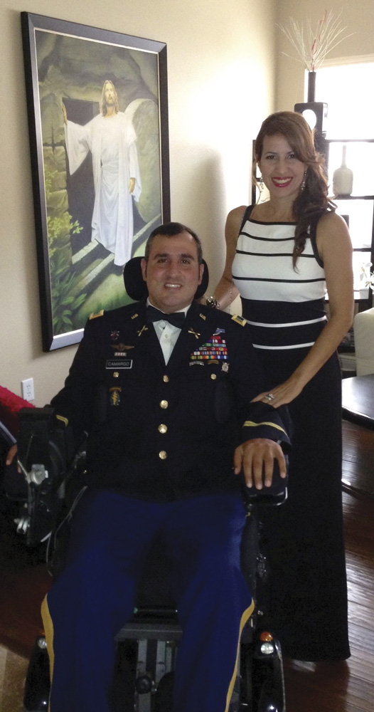 "Chief Warrant Officer Romulo ""Romy"" Camargo with wife Gaby"