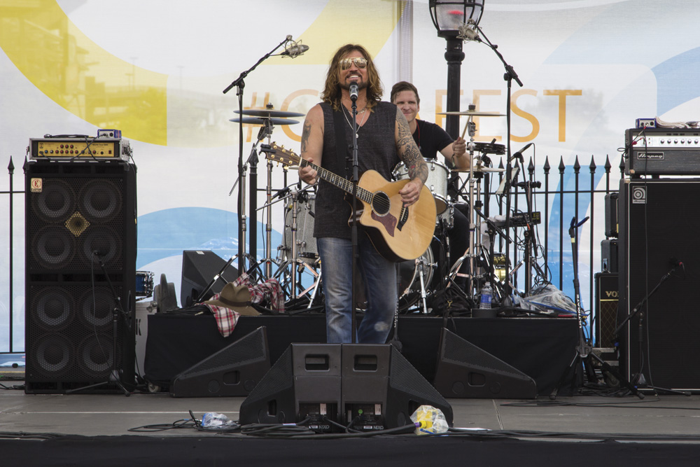 Billy Ray Cyrus performs at the Chevrolet Riverfront Stage at CMA Music Festival