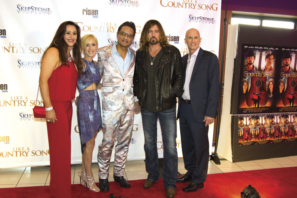 (l to r) Music Surpervisor Tammy Hyler, Executive Producers Megan and Allan Camaisa, Billy Ray Cyrus, and Johnny Remo