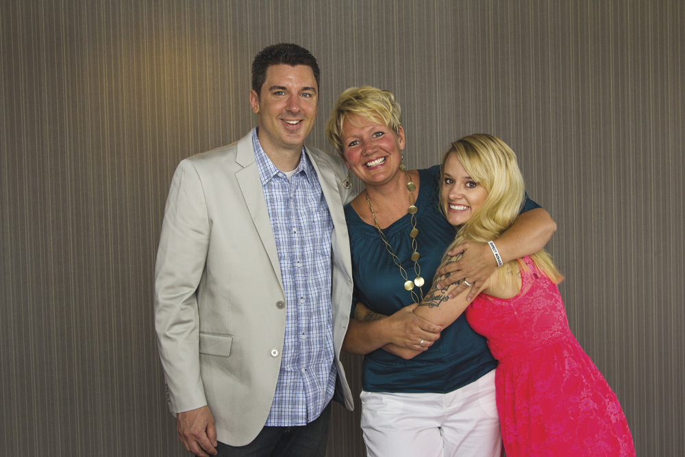 Pastor Todd and Erin Stevens with former stripper, Katie