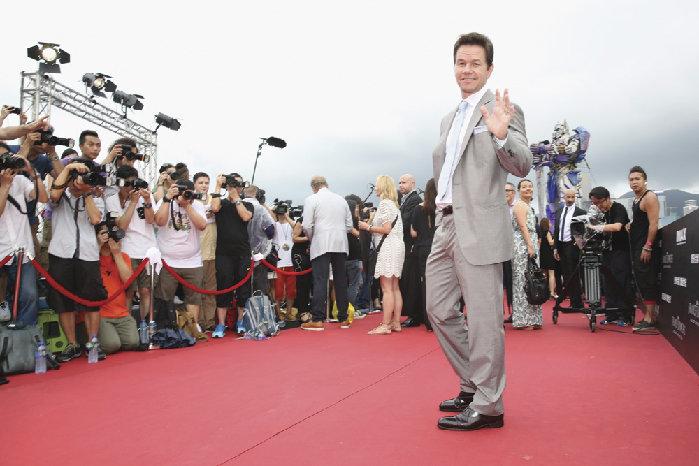 Mark Wahlberg in Hong Kong at the World Premiere of Transformers: Age of Extinction