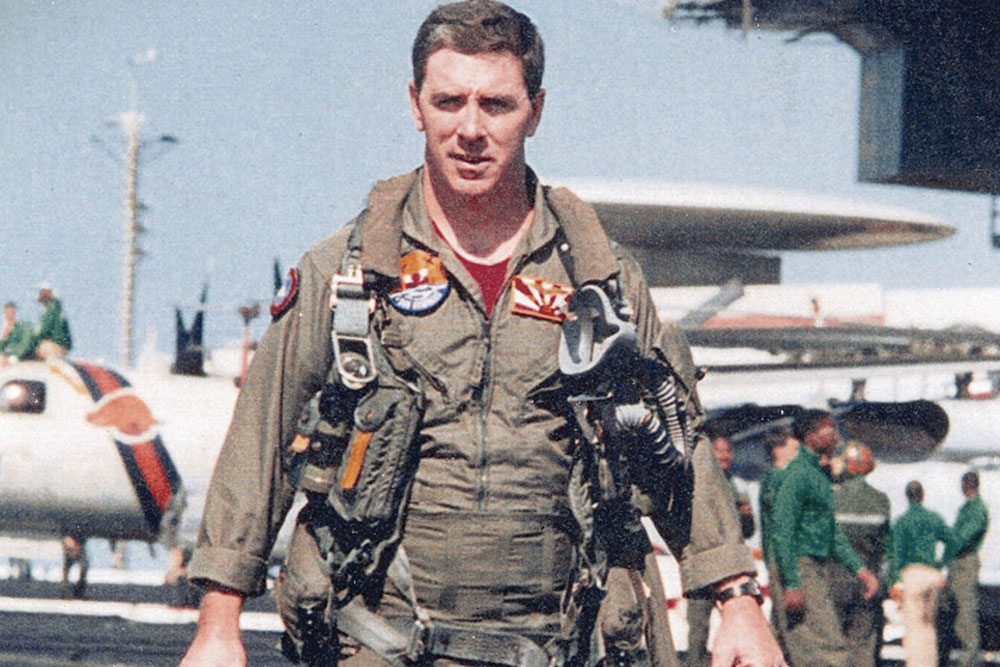 Joyce was both an F-14 Tomcat pilot and instructor