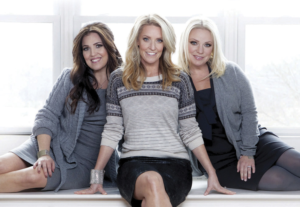 Hit Christian group, Point of Grace. (L TO R) Leigh Cappillino, Denise Jones, and Shelley Breen.