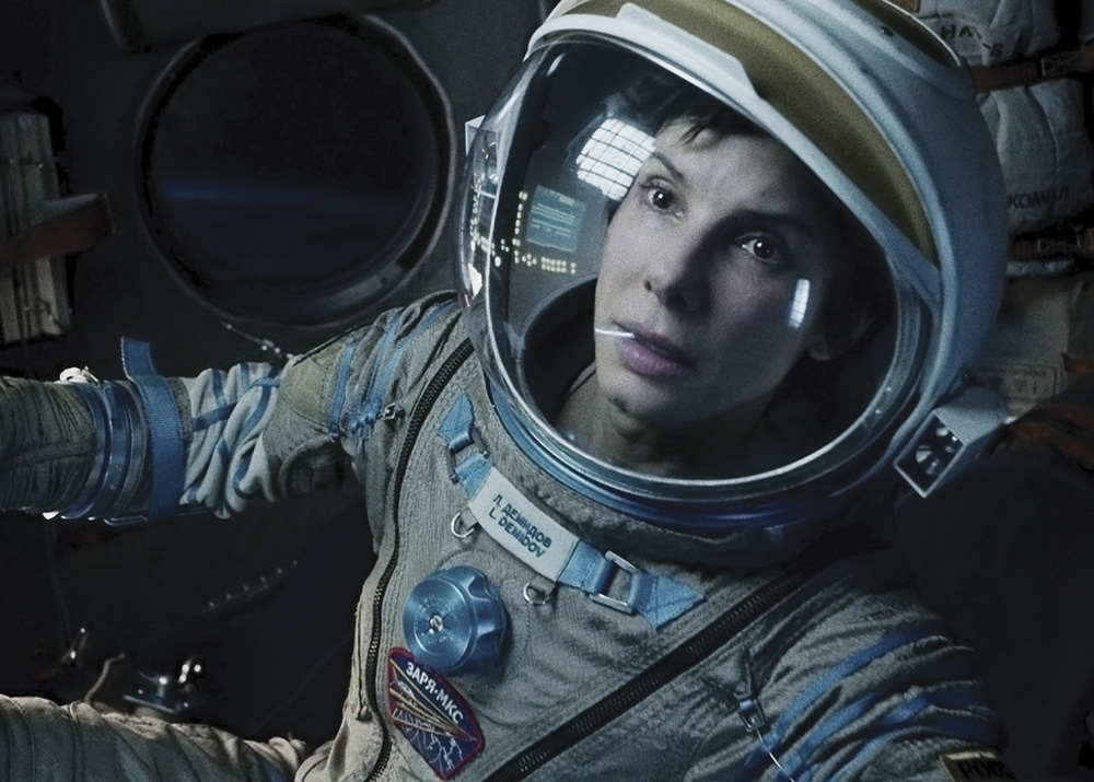 Gravity Movie's Sandra Bullock. Photo courtesy Of Warner Bros. Pictures