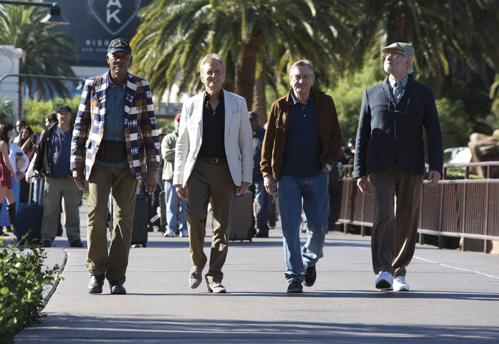 Last Vegas Movie Cast: Morgan Freeman, Michael Douglas, Robert DeNiro, Kevin Kline