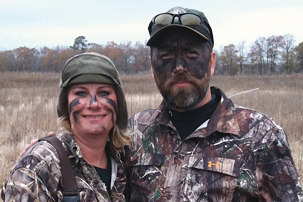 Alan and Lisa Robertson from A&E's hit TV show, Duck Dynasty