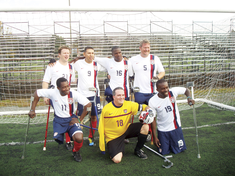 Eric Westover with U.S. National Amputee Soccer Team in Washington D.C. (2011)
