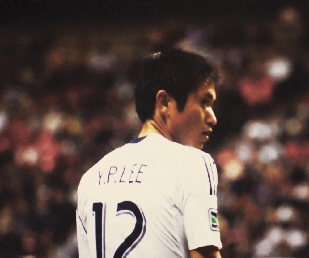 Korean Soccer Star, Y.P. Lee. Photograph by Mike Wilson
