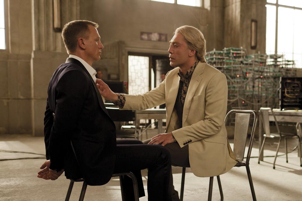 James Bond Skyfall Movie Actors Daniel Craig (left) and Javier Bardem. Photo by Francois Duhamel