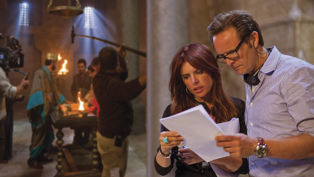 On set with Mark Burnett and Roma Downey. Photo by Joe Alblas