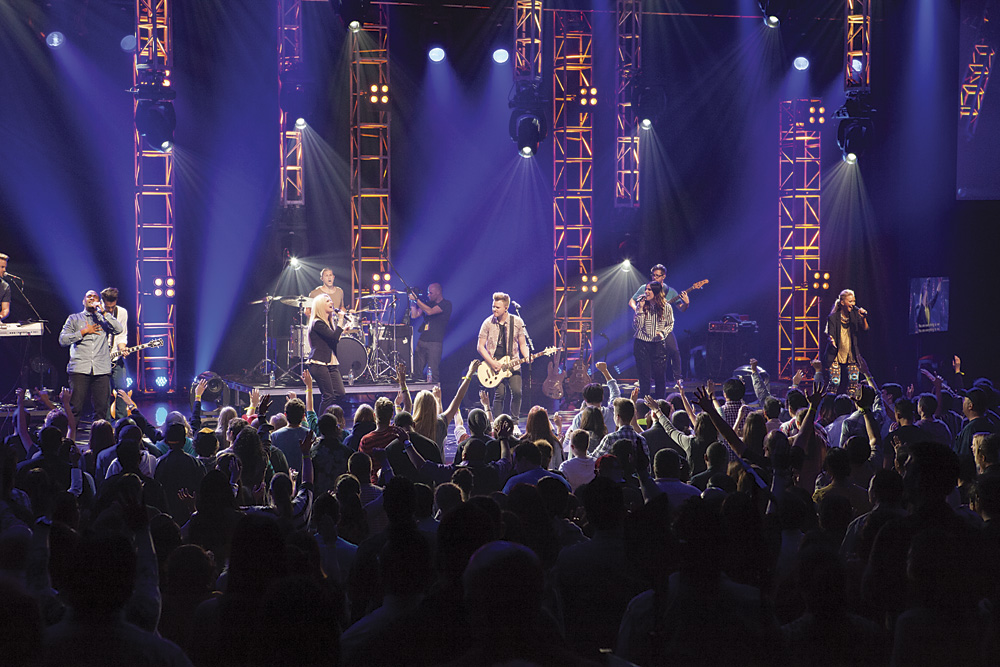 Planetshakers band in concert. Photo by Rob Springer