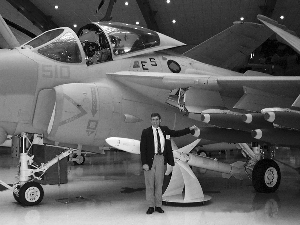 David Hilmers and an A-6 Intruder
