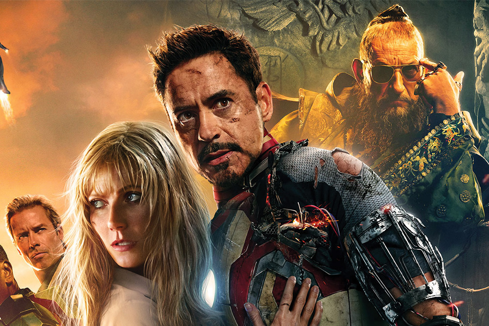 Gwyneth Paltrow and Robert Downey Jr. as Pepper Potts and Tony Stark in Iron Man 3. © Marvel Comics, Disney Enterprises Inc.