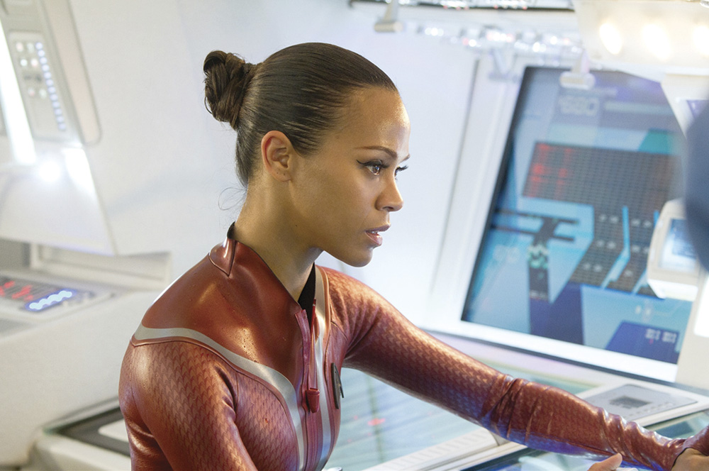 Avatar's Zoe Saldana as Uhura in Star Trek: Into Darkness