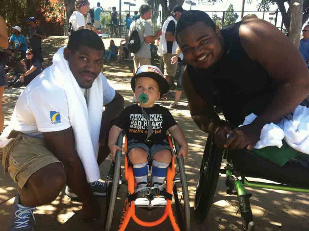 Dartanyon Crockett and Leroy Sutton take part in CAF (Challenged Athletes Foundation.)