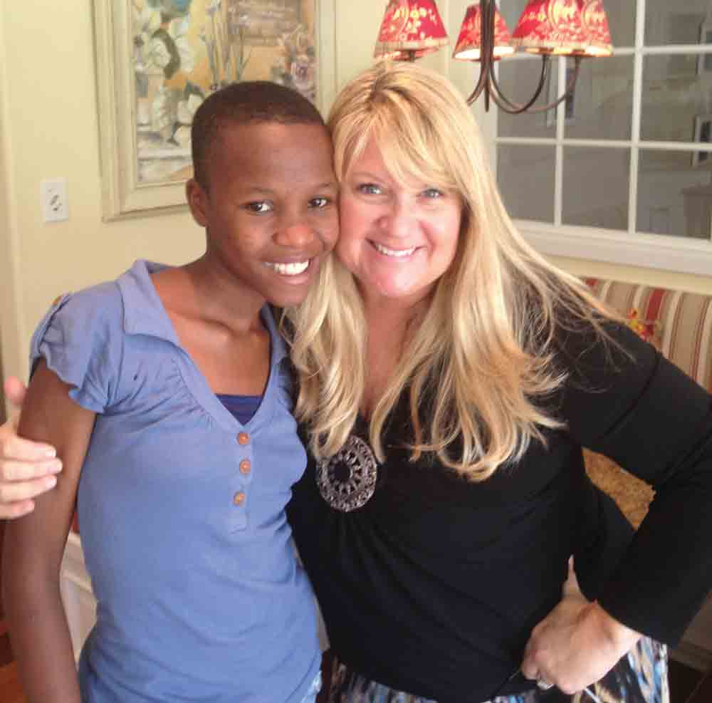 Shelene Bryan with Omega, one of the first two children she and her husband sponsored.