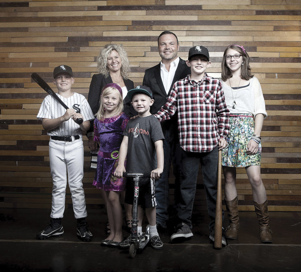 Mark and Grace Driscoll with their children. Photo by Rob Springer