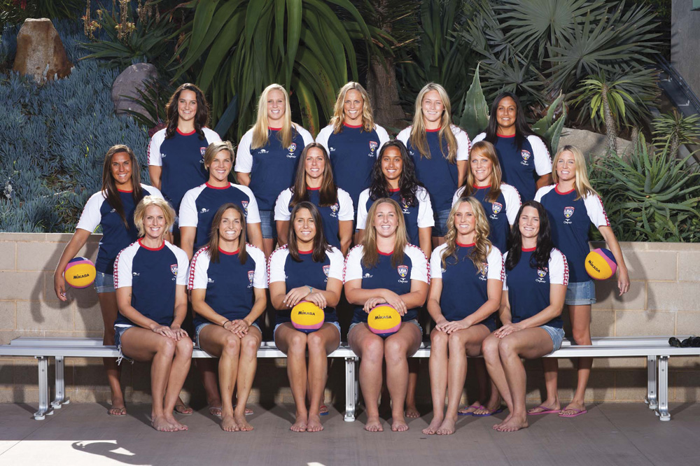 US National Water Polo Team. Photo by Michael Larsen