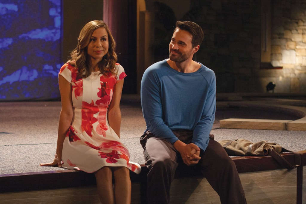Anjelah Johnson-Reyes and Brett Dalton in The Resurrection of Gavin Stone