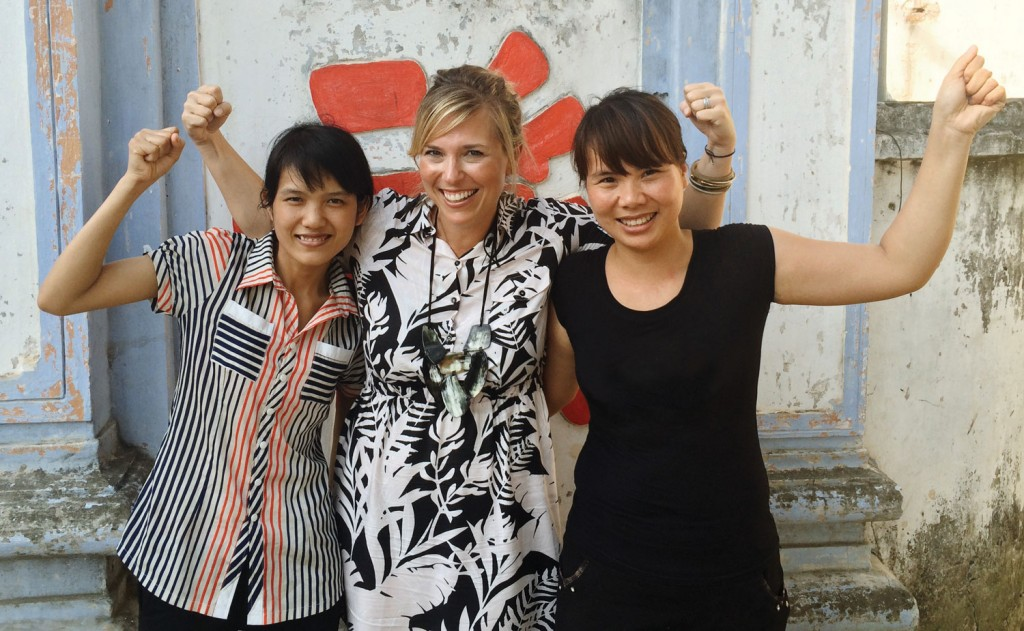 Noonday Founder, Jessica Honegger with Artisan Partners in Vietnam.