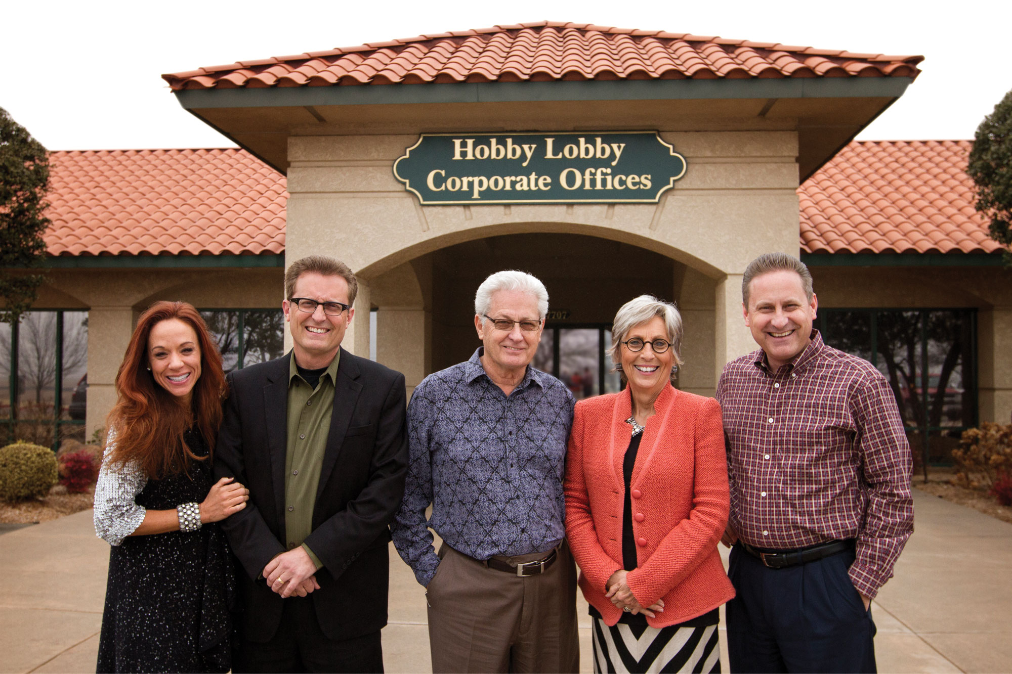 Hobby Lobby Corporate Offices With Immediate Family L R Darsee Mart David Barbara And Steve