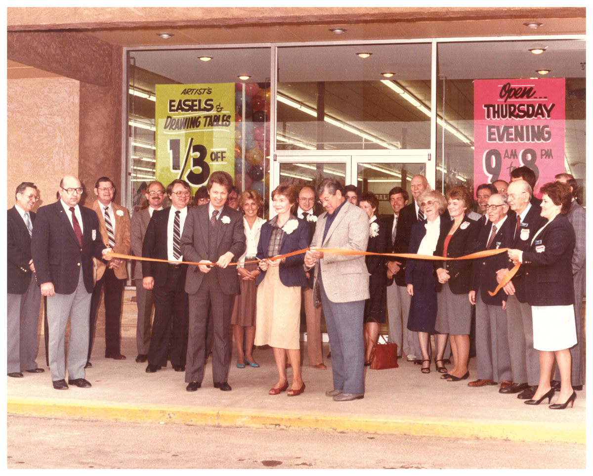 Ribbon Cutting At The Grand Opening Of Hobby Lobby