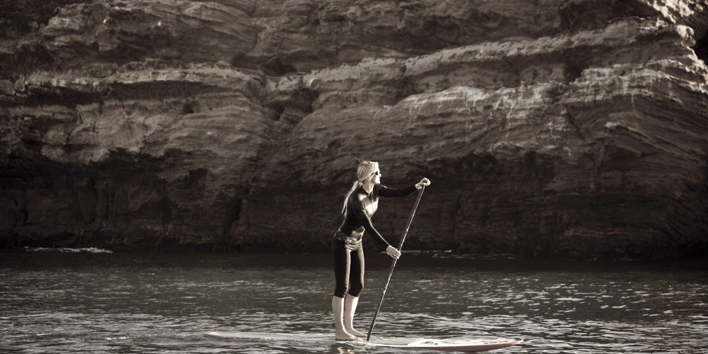 Pro Stand Up Paddleboarder Gillian Gibree. Photo by Shana Siler