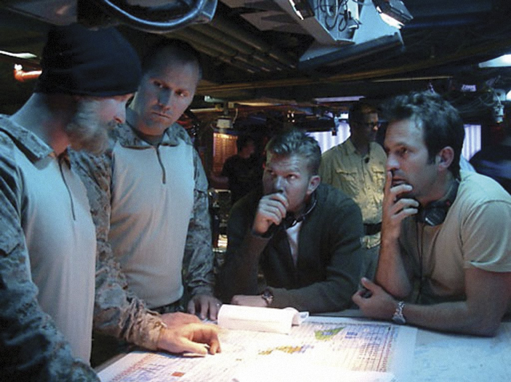 Act of Valor movie Directors Scott Waugh & Mouse McCoy discuss briefing with Navy Seals. Photo: IATM LLC Copyright 2011 Relativity Media, LLC. All rights reserved.