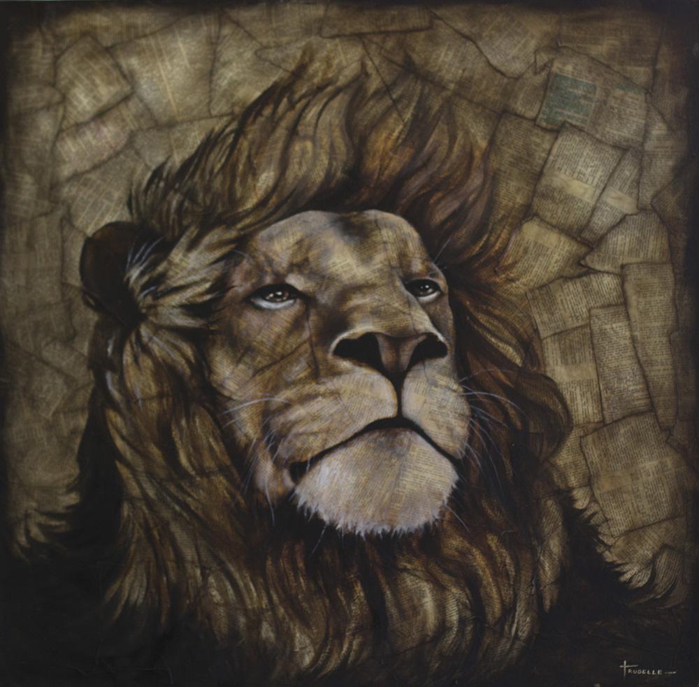 Kyle Trudelle Lion Painting