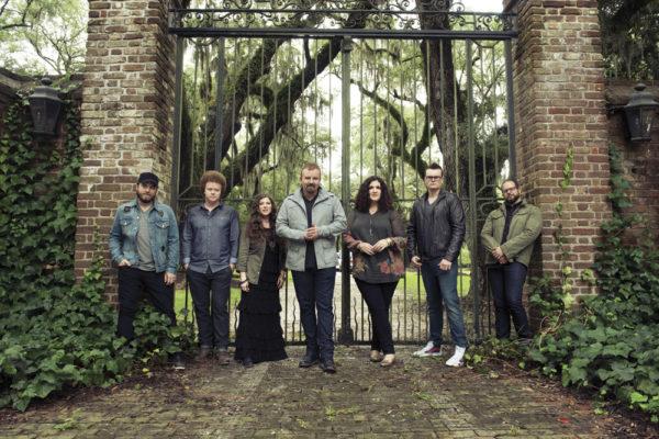 Casting Crowns, from left to right: Chris Huffman, Brian Scoggin, Melodee DeVevo, Mark Hall, Megan Garrett, Josh Mix, Juan DeVevo
