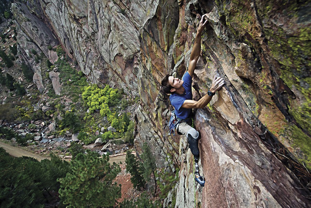 Craig DeMartino facing fears and continuing his passion to climb.
