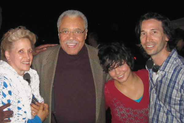 Kathy DiFiore, James Earl Jones, Vanessa Hudgens and Ron Krauss. Photograph courtesy of Roadside Attractions
