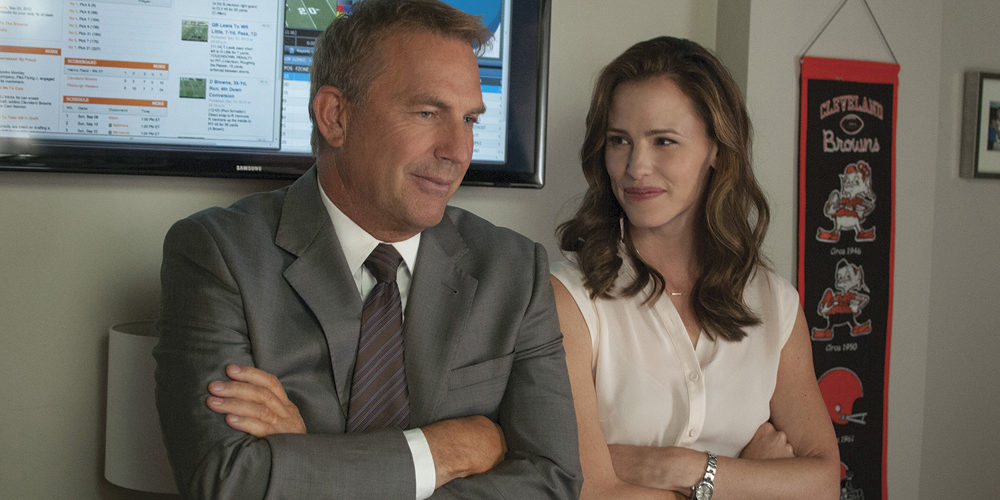 Draft Day Movie Stars (l-r) Kevin Costner and Jennifer Garner. Photo: Courtesy of Summit Entertainment