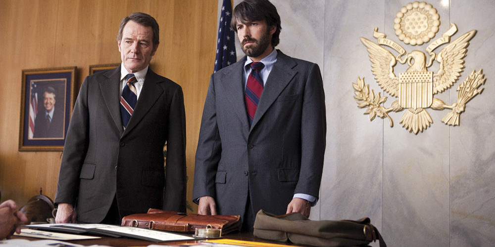 Argo Movie Actors. (L-r) BRYAN CRANSTON as Jack O'Donnell and BEN AFFLECK as Tony Mendez. Photo by Claire Folger