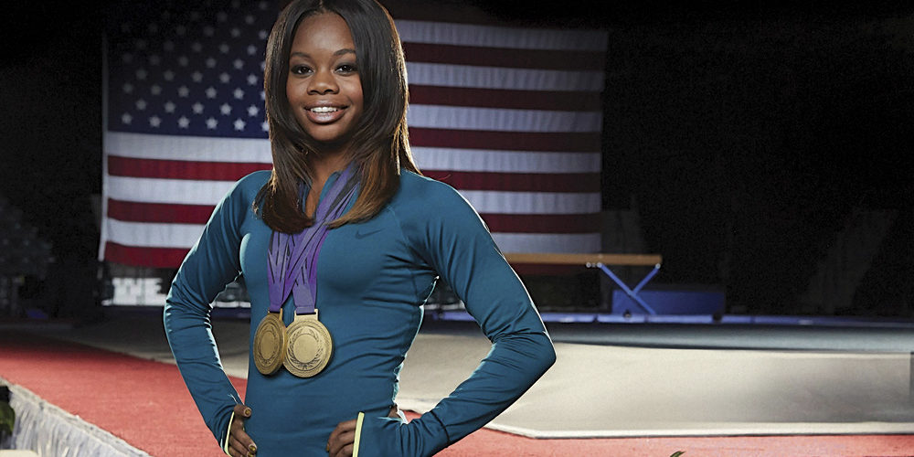 Two-time Olympic gymnast gold medalist, Gabrielle Douglas. Photograph by Allen Fraser